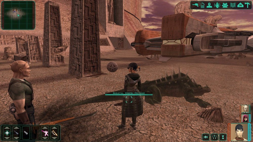 Screenshot z gry Star Wars: KOTOR