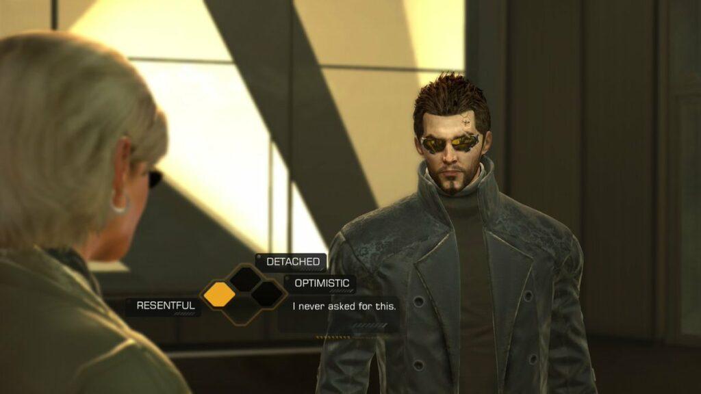 Adam Jensen z Deus Ex Human Revolution