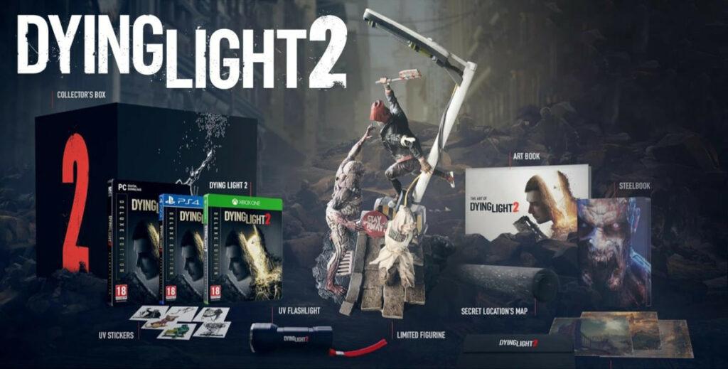 Grafika prezentująca zawartość edycji kolekcjonerskiej gry Dying Light 2
