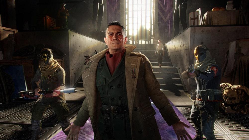 Powitanie bohatera Dying Light 2 przez przywódcę jednej z frakcji z gry