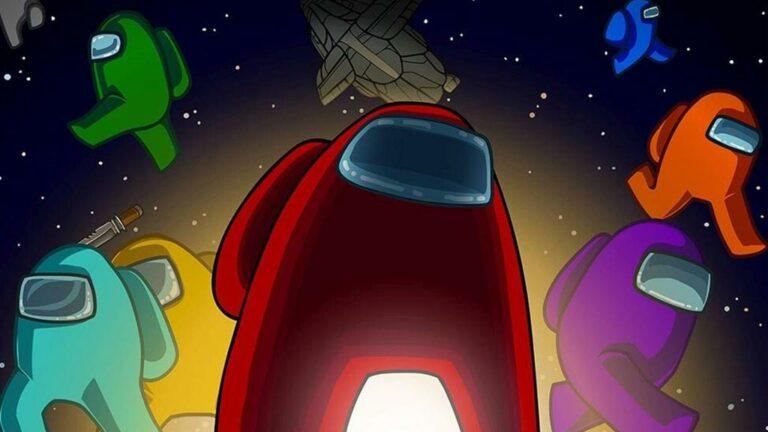Rysunek ukazujący postacie z gry Among Us