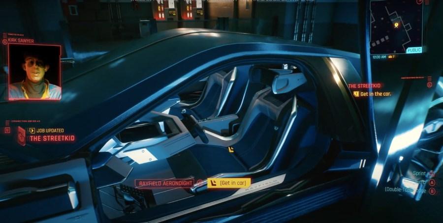 Wnętrze pojazdu Aerondight