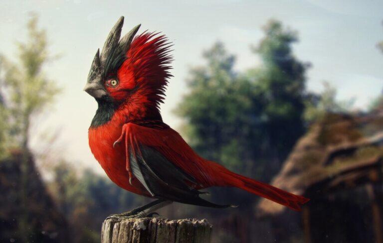 Fotorealistyczny ptak z loga CD Projekt RED
