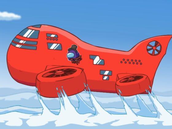 Nowa mapa do Among Us w postaci czerwonego samolotu lub sterowca