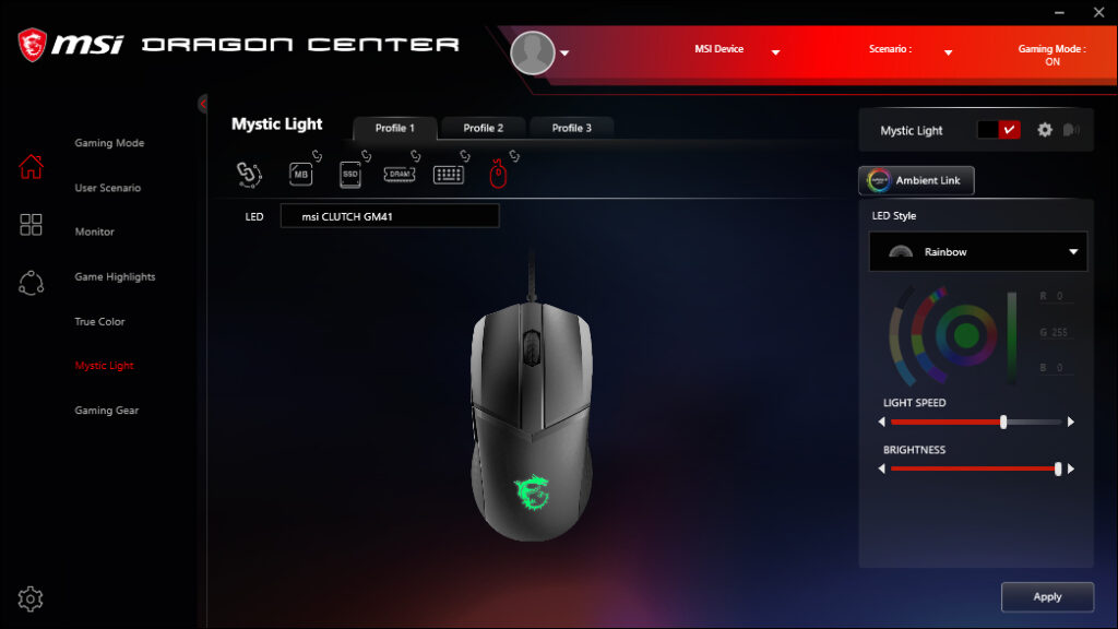 Oprogramowanie MSI Dragon Center