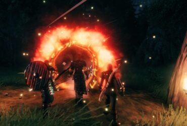 Ognisty portal w grze Valheim