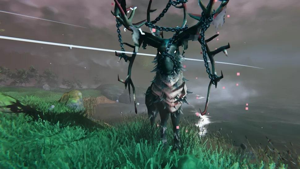 Boss Eikthyr przypominający jelenia