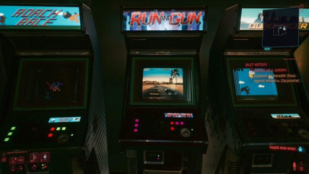 Automaty arcade w Cyberpunk 2077