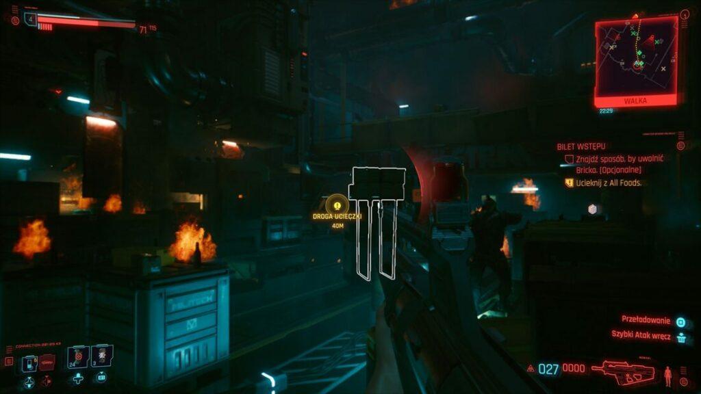 Walka w Cyberpunku 2077