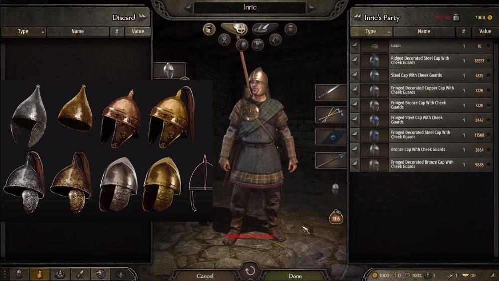 Mount & Blade 2: Bannerlord nowe hełmy