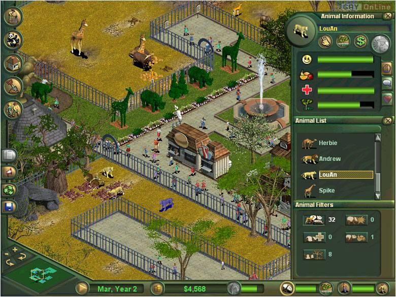 Screen z gry Zoo Tycoon z 2001 roku