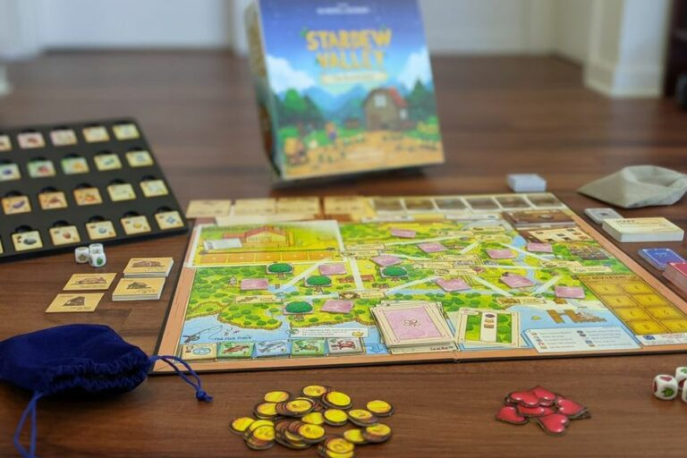 Stardew Valley: The Board Game plansza i karty