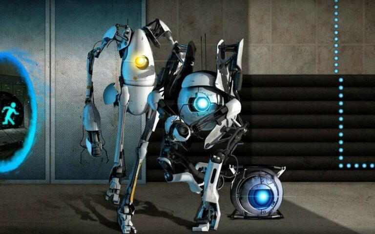 Roboty z gry Portal 2
