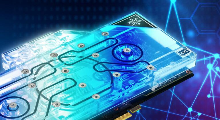 Podświetlone GPU z blokiem wodnym Alphacool