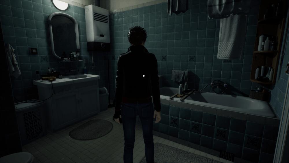 Główna bohaterka gry Medium w łazience