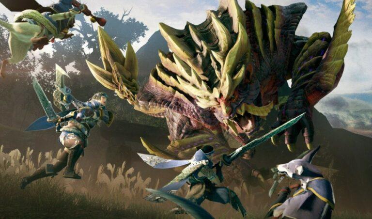 Łowca potworów z Monster Hunter Rise