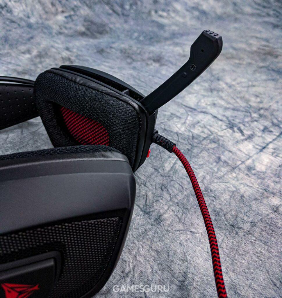 Rozkładany, wbudowany mikrofon słuchawek Patriot