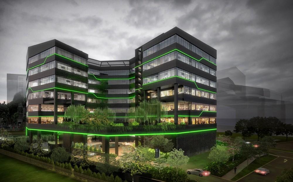 Zielona siedziba Razera