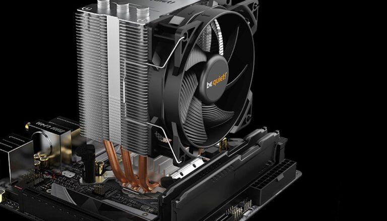 Cooler CPU Pure Rock Slim 2 zamontowany na płycie głównej