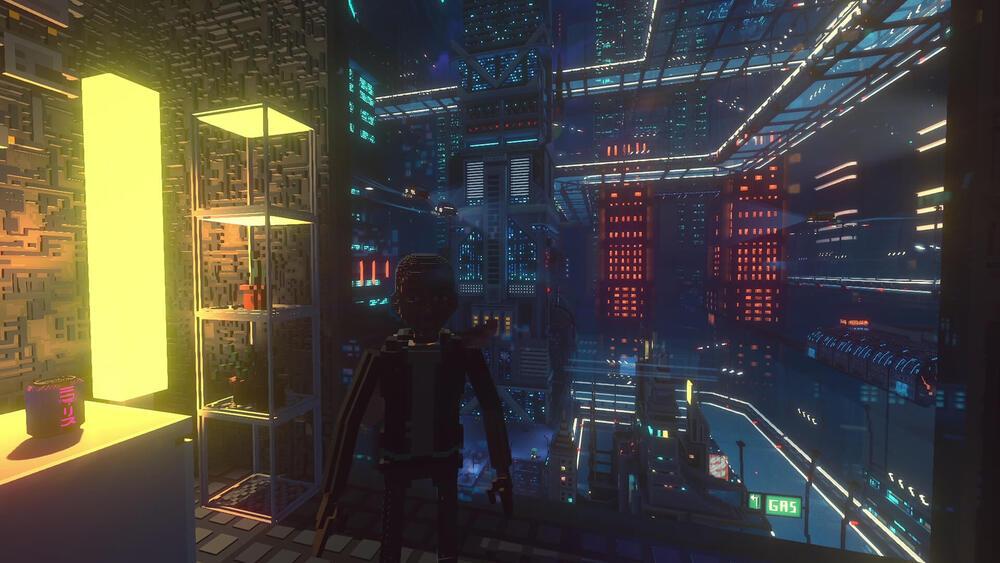 Lokacja z City of Ghosts, DLC do Cloudpunka