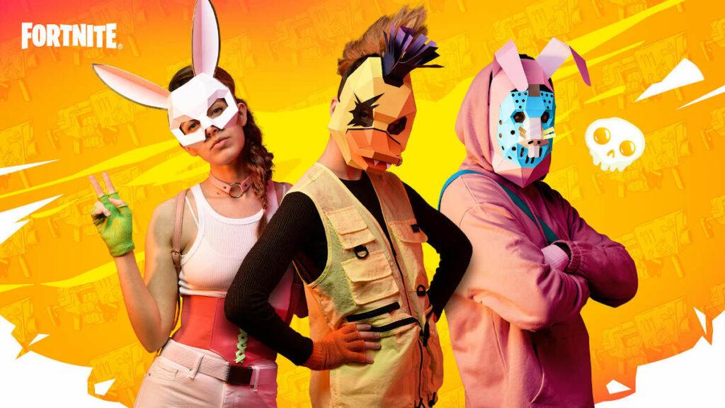 Fortnite Spring Breakout - maski do złożenia