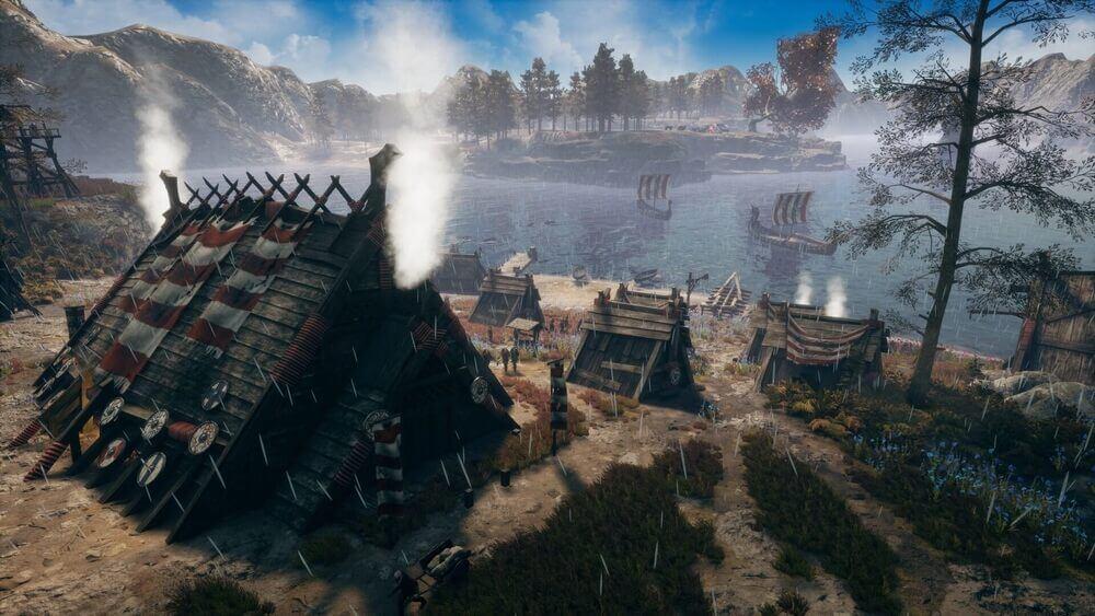 Wioska wikingów z gry Frozenheim