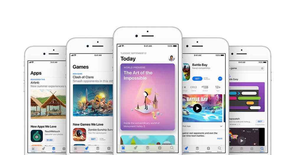 Interfejs AppStore - materiały promocyjne