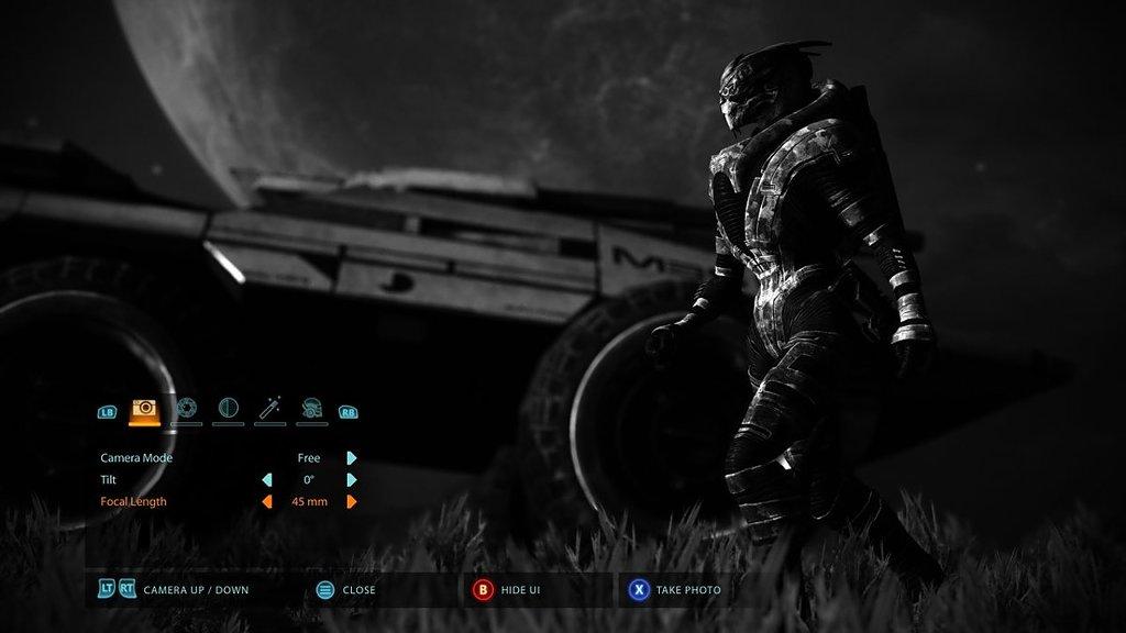 Garrus Vakarian w trybie fotograficznym w Mass Effect Legendary Edition