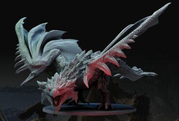Figurka potwora z Monster Hunter World: The Board Game