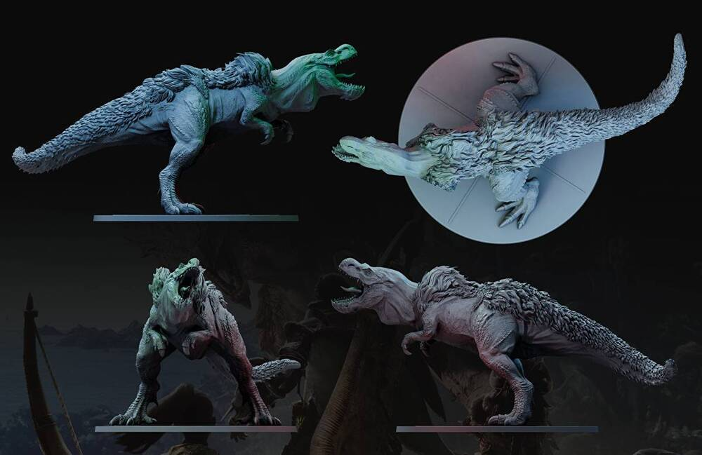 Figurki potworów do Monster Hunter World: The Board Game