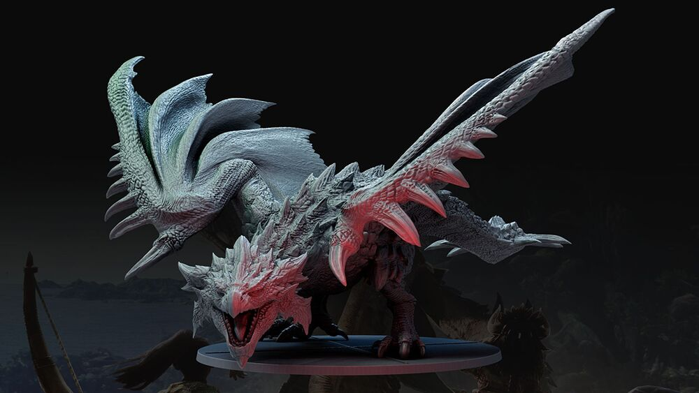 Figurka potwora z Monster Hunter World: The Board Game