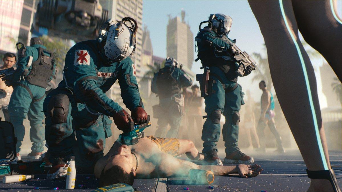 Grafika z gry Cyberpunk 2077