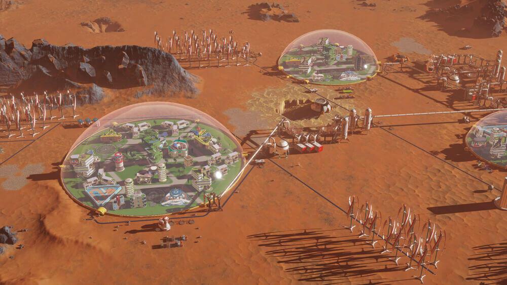 Kolonia w grze Surviving Mars