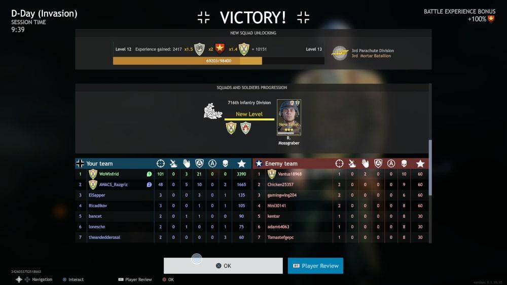 Ekran podsumowania po bitwie