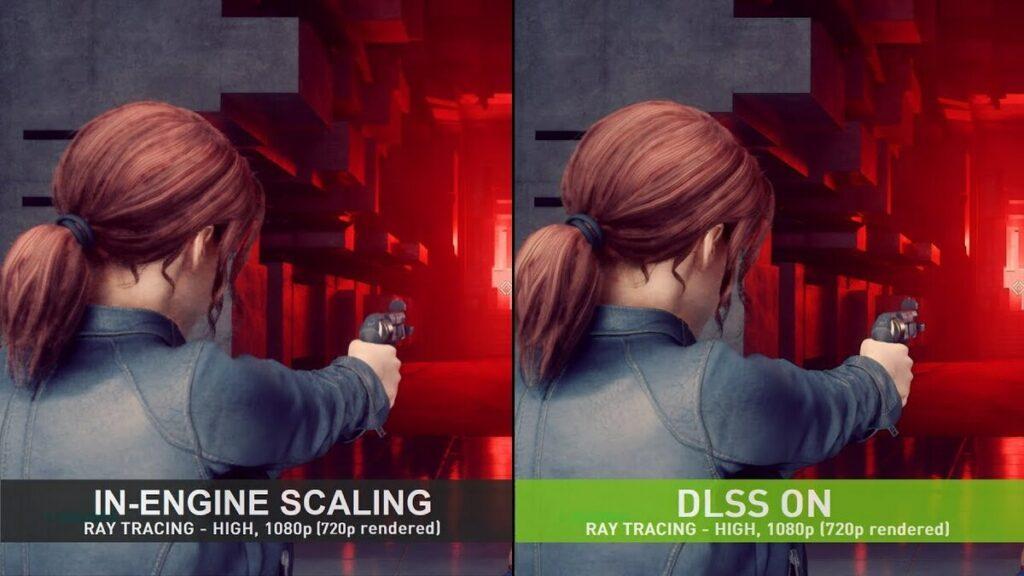 Wykorzystanie DLSS w grze Control.