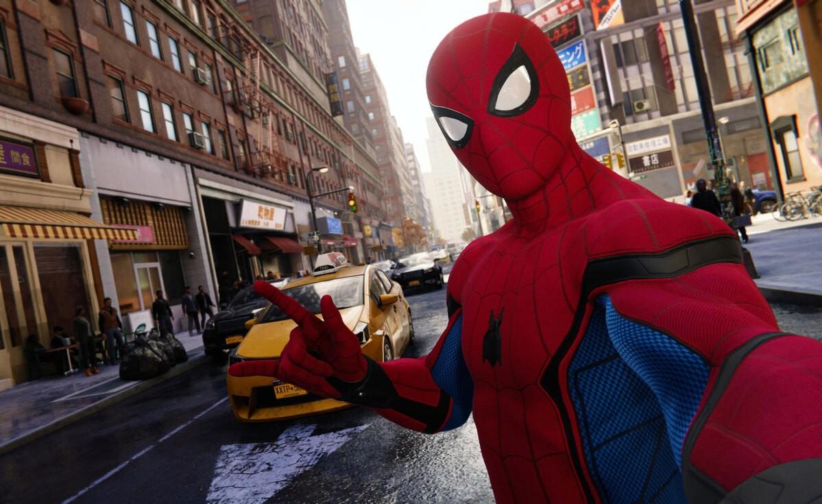 SpiderMan na ulicach wirtualnego Nowego Jorku.