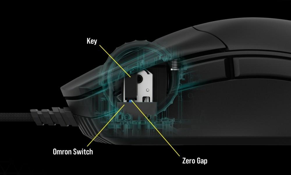 Przyciski i przełączniki w myszce