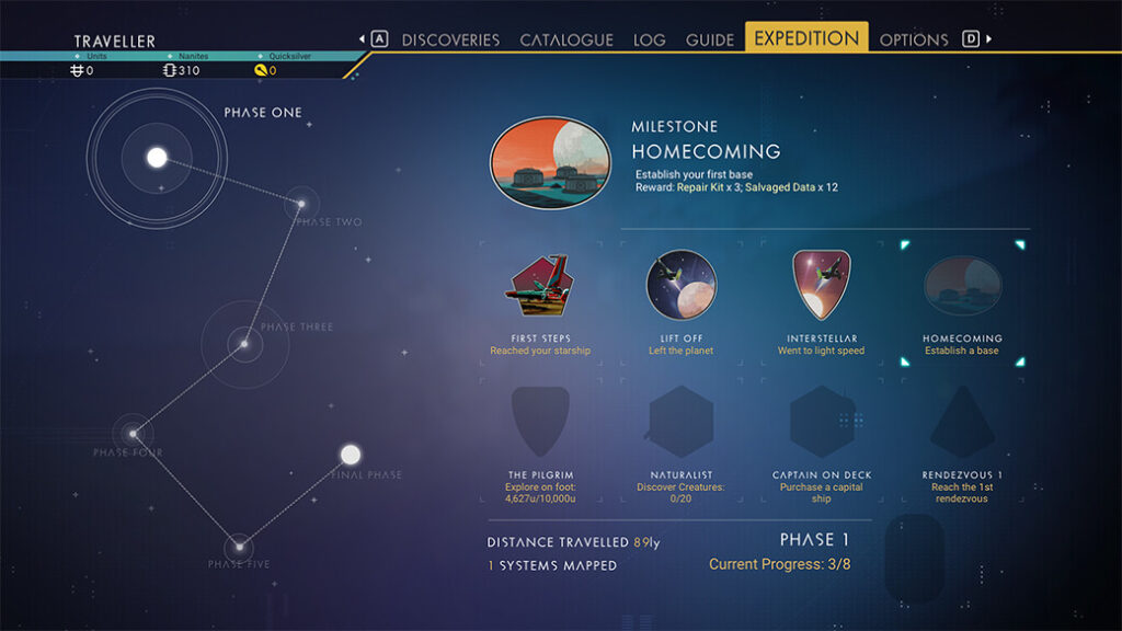 Misje podzielone na fazy w No Man's Sky Expeditions