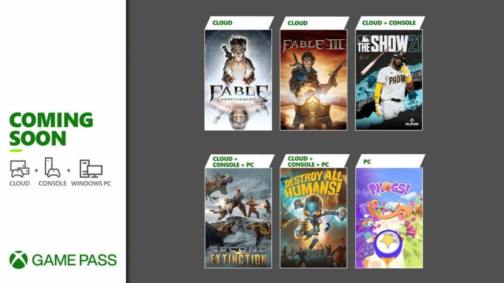 Lista gier jakie pojawią się w usłudze Xbox Game Pass