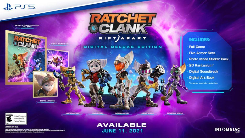 Grafika z zawartością Specjalnej Wersji Cyfrowerj Ratchet & Clank: Rift Apart