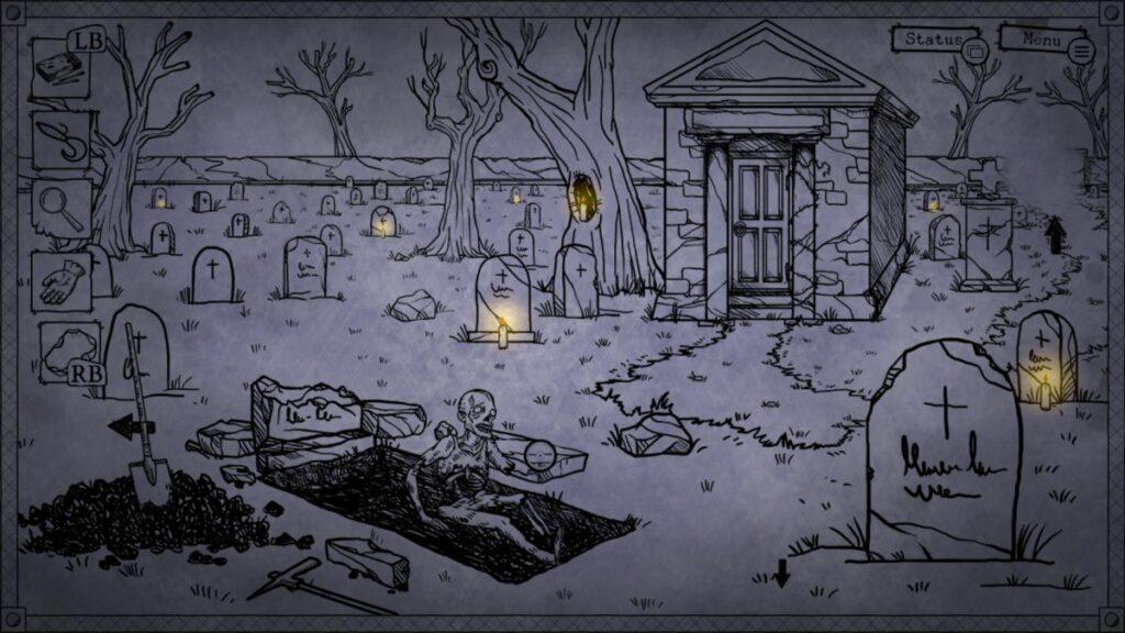 ponury cmentarz