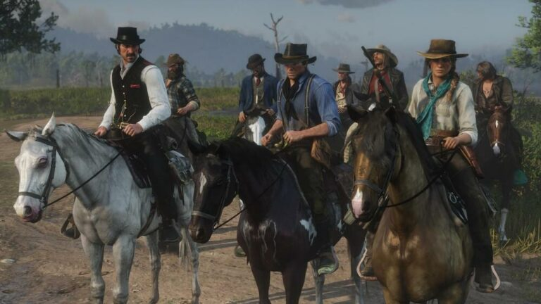 Bohaterowie na koniach w Red Dead Online