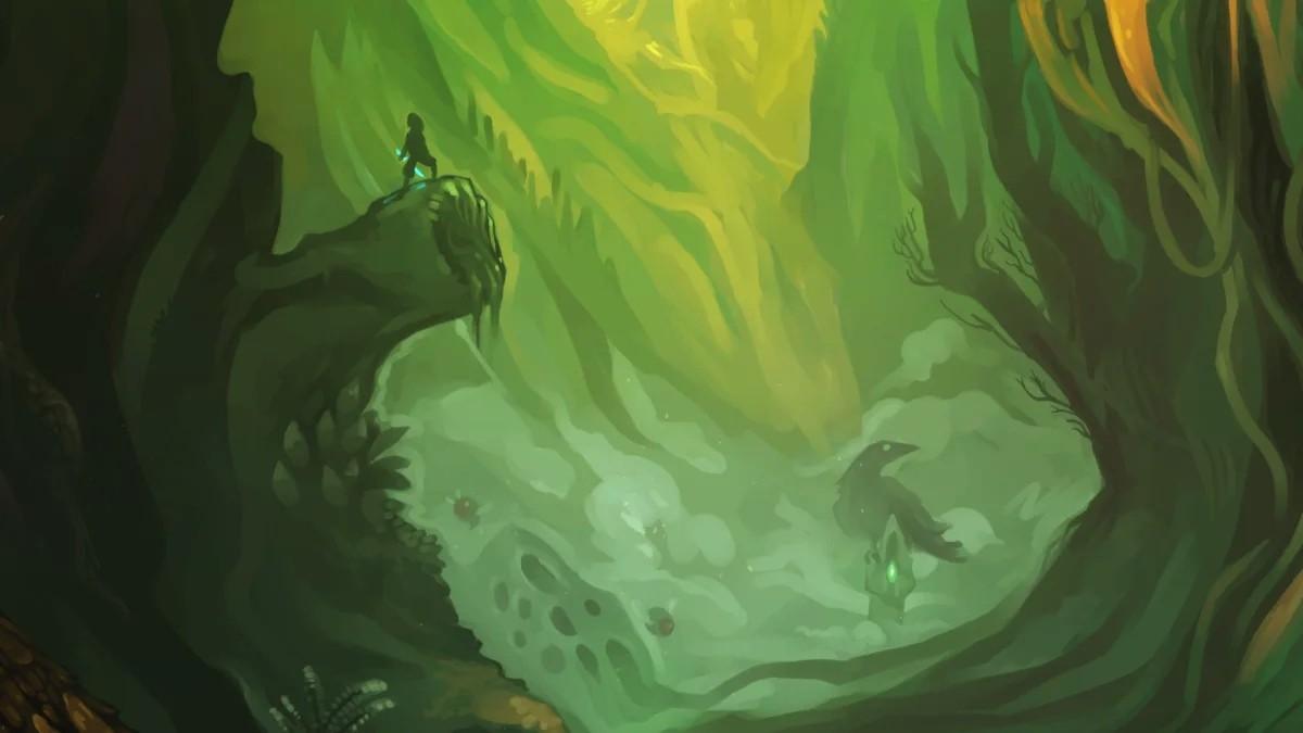 Earthblade - krajobraz i bohater stojący na wzniesieniu
