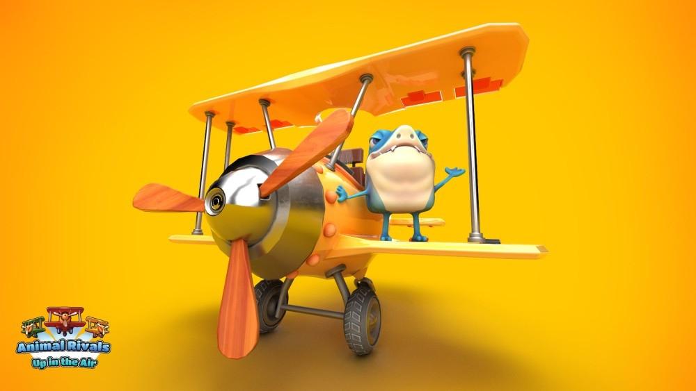 Zwierzak z gry Animal Rivals: Up In The Air na samolocie
