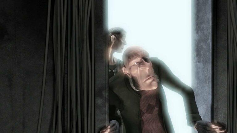 Przykład efektu bloom w grafice 3D.
