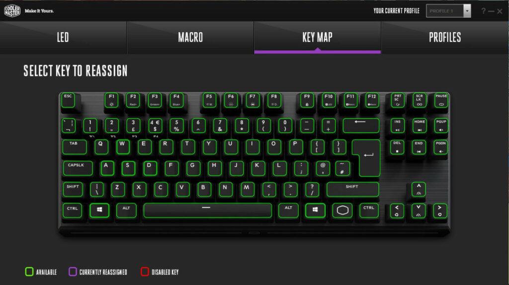 Zrzut ekranu z programu Cooler Master Portal