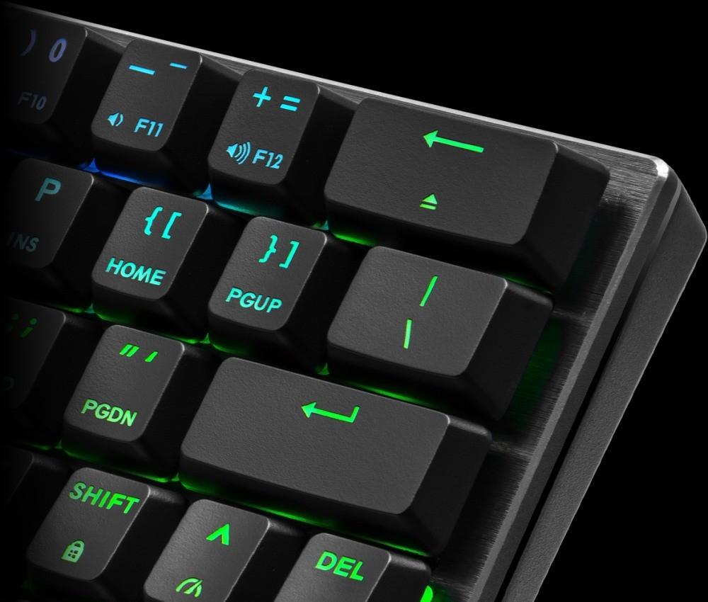 Prawy górny róg urządzenia z klawiszem backspace