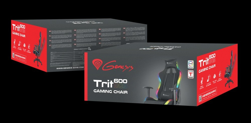 Pudełko fotela Genesis Trit 600 RGB