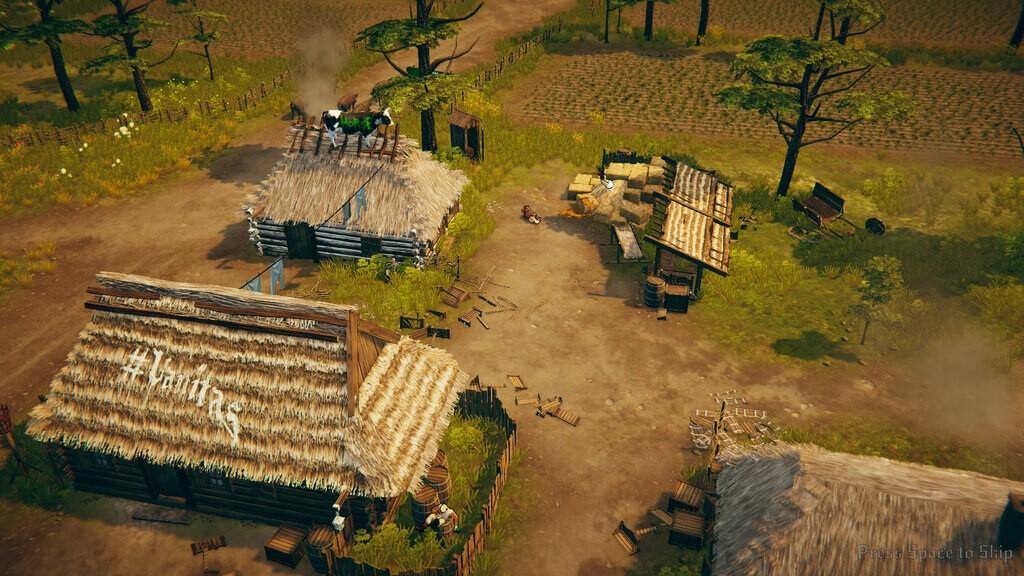 Starożytna wioska z gry Rustler