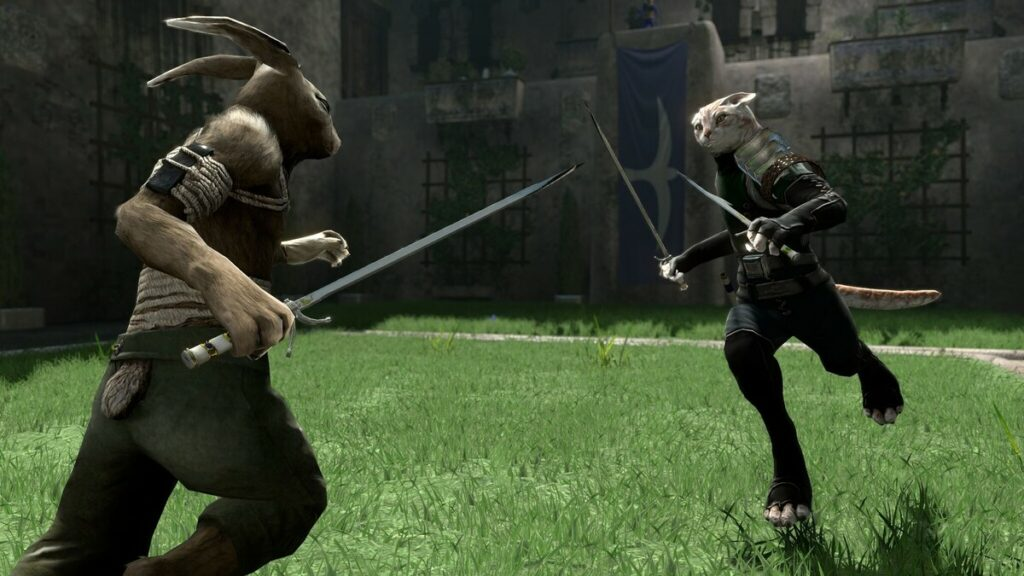 Scena walki z gry Overgrowth.